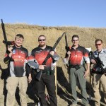 Chuck Anderson, John Browning, Nick Atkinson and Brian Nelson of team Crimson Trace.