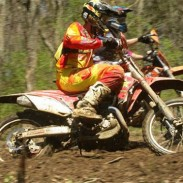 JCR Honda's Chris Bach won the opening round of the AMA MAXC Series in Indiana.