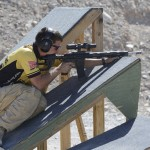 Staff Sgt. Daniel Horner, U.S. Army Marksmanship Unit, competes in the 2014 U.S. Practical Shooting Association Multi-gun National Championships, April 20, at the Desert Sportsman Rifle Club. Horner claimed his sixth national title in the Tactical Ops Division, the first shooter to ever accomplish the feat.