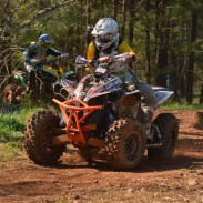 Jordan Phillips, seen leading fellow Can-Am racer Rob Smith, won the 4x4 Pro class at the Big Buck GNCC in South Carolina.