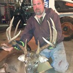 Mike Waber with his 10-point buck.