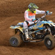 Riding on ITP Quadcross MX tires, BCS Performance/Can-Am Pro and Pro-Am racer Ronnie Higgerson won the Pro-Am class Sunday at round two of the Mtn. Dew ATV MX series held at Muddy Creek in Blountville, Tenn.