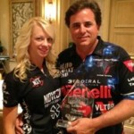 Janna Reeves and Taran Butler from Team Benelli.