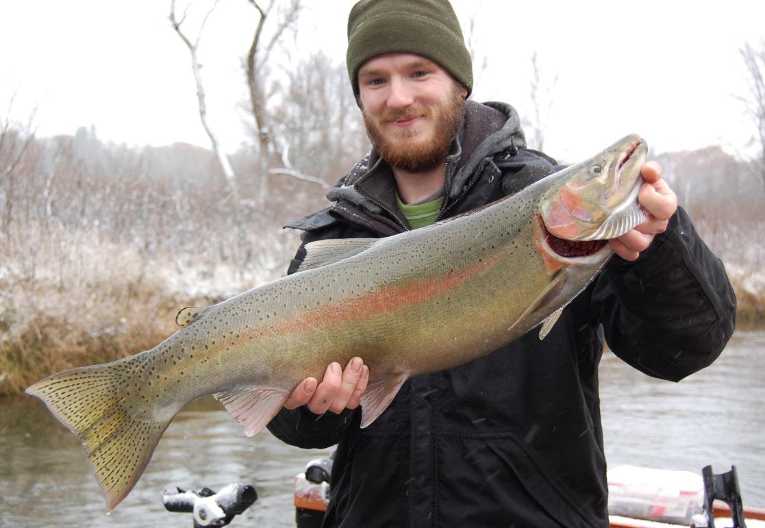 Michigan 39 s top steelhead spots outdoorhub for Michigan steelhead fishing