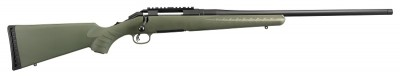 The Ruger American Rifle Predator model includes all the features of the original Ruger American Rifle®, plus a moss green stock, a heavier tapered, threaded barrel and a factory installed one-piece aluminum scope rail.