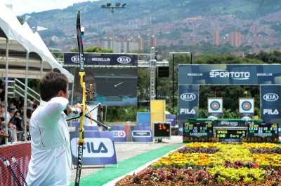 World's best archers square off at world stage event.