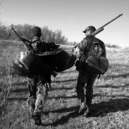 The fruits of a successful turkey hunt in the Nebraska Sandhills.