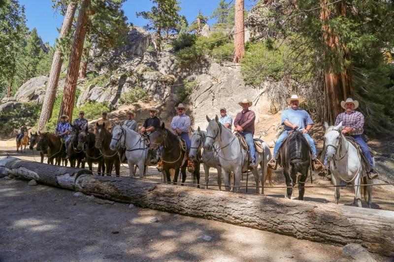 California game wardens during Mounted Patrol training June 1 through 5.