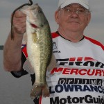Don Gowen shows off a nice largemouth bass that took a 10-inch plastic worm on Alabama's Wheeler Lake.