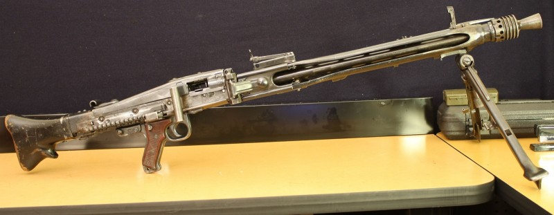 This MG 42 is an amalgamation of World War II-era German and post-war Yugoslav parts. It is a post-May gun and can only be acquired by licensed dealers.