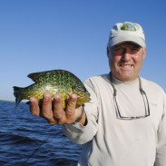 Michigan's Houghton Lake is noted for its sunfish, like this pumpkinseed.