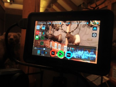 The Atomos Ninja Blade in action at the RMEF/onXmaps shoot.