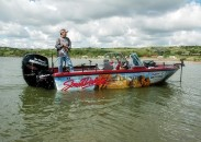 Hall of Fame fisherman Ted Takasaki uses a remote control to steer his boat with a bow-mounted electric trolling motor. Follow the tips Takasaki offers for using all boat-control tools and you can turn the wind from an enemy into a friend.