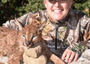 The author with her caracal. Image courtesy Michelle Whitney Bodenheimer.