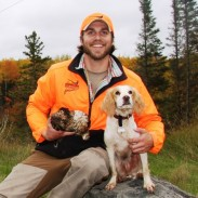 Michigan's grouse season attracts nonresident hunters, like Pheasants Forever's Anthony Hauck of Minnesota and his trusty bird dog, Sprig. Image courtesy Anthony Hauck.