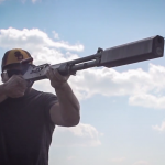 SilencerCo's new Salvo 12 shotgun suppressor in action.