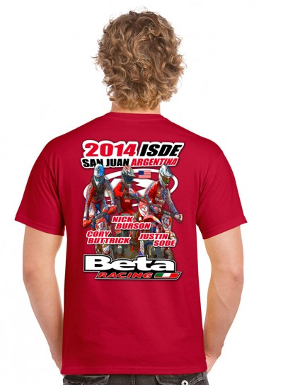 Beta usa sending a team to the isde outdoorhub for I support two teams t shirt