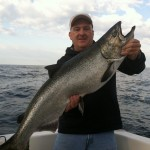 Charter captain Jay Frolenko says this time of year is the best time to catch big Michigan salmon.