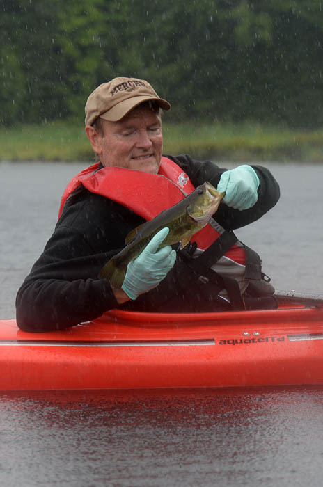 Kayaks a fun ticket to northwoods bass outdoorhub for Mighty mite fishing rod