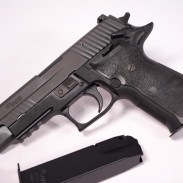 Notice something different about this Sig P226? No decocking lever, and it's got a safety.