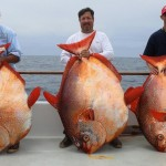 Three lucky anglers each got their own opah in the same fishing trip.