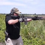Tennessee Arms Company founder David Roberts testing out an AR-15 with his company's clear lower receiver.