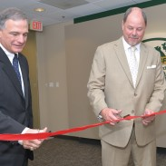 NSSF President Steve Sanetti, left, and Jeff Reh, NSSF Board of Governors Co-Vice Chairman and Beretta USA General Counsel and Vice General Manager, officially open NSSF's new Washington, D.C., office.