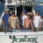 The crew of the Joker with California's first known wahoo.