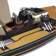 This attractive new boat is just about the closest thing to a transformer on the water.