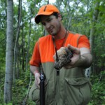 Chris Stewart shows off an opening day woodcock.