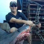Jeff Thomason with his mako.