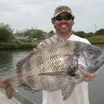 David Walker with his 17.1-pound state record sheepshead.