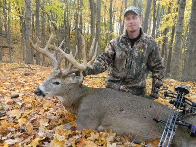 Chris Evenhouse harvested this great buck even after missing with his first shot. The buck green-scored at 205. Image courtesy Chris Evenhouse.