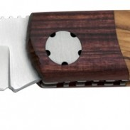"""The Faisan Duo from PUMA IP Knives is a 3.1"""" locking folder with distinctive handles made from olive and rosewood."""