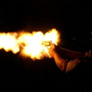 Revolvers chambered in .500 S&W can make quite the fireball (image not from video).