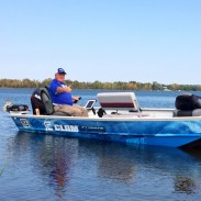 Ice fishing legend Dave Genz in his Holey Boat. Image courtesy Dave Genz.