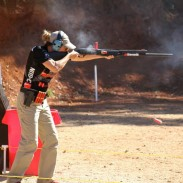Diana Liedorff-Mueller took second place in the Tac-Ops pro division, just edged out of the gold and a $5,000 check by Lena Miculek. Image by Sandra Smith McDougall-Mitchell.