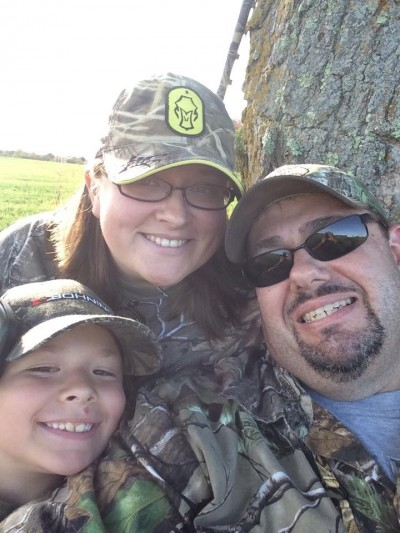 How do I know my wife is a hunter? We go hunting together a lot. We take the kids too.