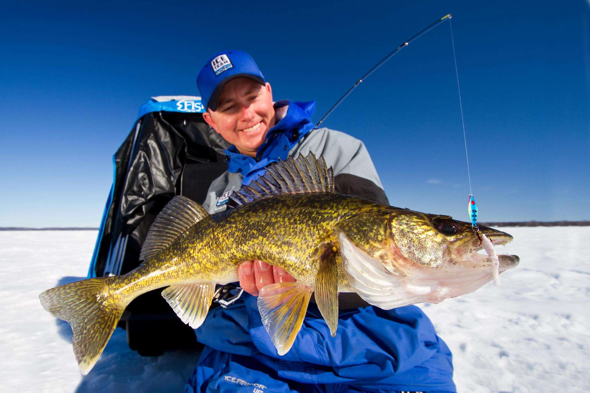 Secrets for catching early ice walleyes outdoorhub for Ice fishing walleye videos