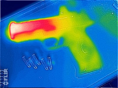 Here's the FLIR view of the brand new Smith & Wesson M&P Pro Series CORE with compensated barrel.