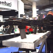 "A ""Beryl Sport"" model on display at the FB Radom booth at this year's SHOT Show."
