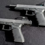The new Glock 40 MOS 10mm (top) and G41 MOS .45 ACP (bottom).