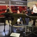 A Russian-made AK on display at the Kalashnikov USA booth at SHOT Show 2015.