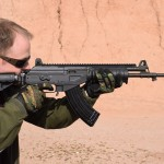 Jim Grant shoots the IWI US Galil ACE in 7.62x39. Image by Matt Korovesis.