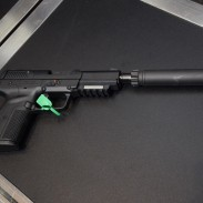 A FiveseveN with a silencer is only one of the treats the SilencerCo booth had this year at SHOT. Check out more below.