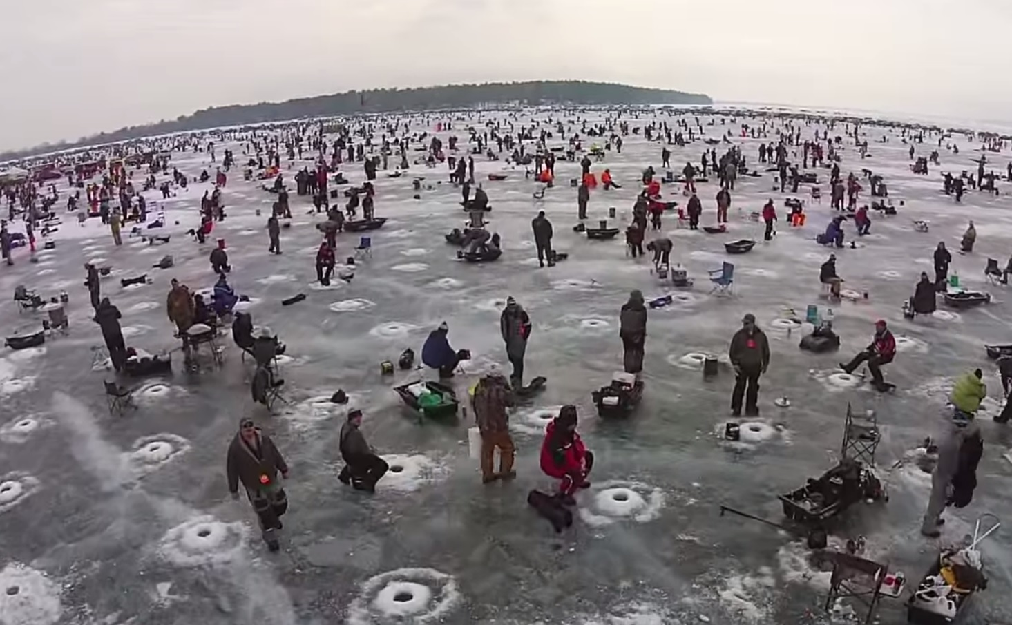 world 39 s largest charity ice fishing contest draws 11 000