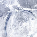The latest satellite images show that the Great Lakes are even more frozen this year than the same period in 2014.