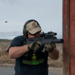 The author putting the Geissele Super Sabra trigger pack and Lightning Trigger Bow to the test in his Tavor.