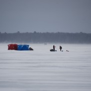 A Iowa man found himself in a life or death situation on Sunday after whiteout conditions led to him falling through lake ice.