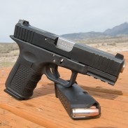 """The author assembled this """"Glock"""" 19 using only two Glock-made parts. The frame was made by Lone Wolf Distributors, and the slide by Primary Weapon Systems."""